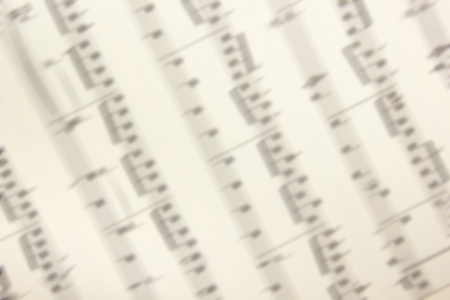 Music sheets background. Musical Notes. Top view