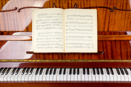Piano close up, piano claps. Background. 写真素材