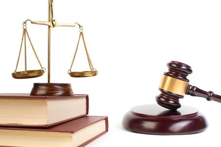 Pojęcie prawa. Symbole prawa na jasnym tle. Miejsce na tekst. Zdjęcie Seryjne