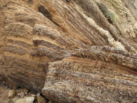 Point Dume geology 版權商用圖片 - 7998414