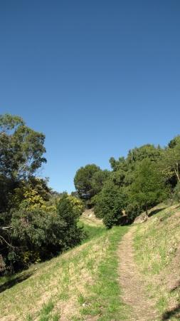 suburbs: Trail on a hillside, Rancho Palos Verdes, CA Stock Photo