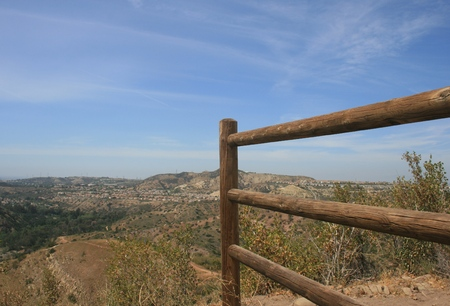 county side: Wooden fence on a hill side, Orange County, CA