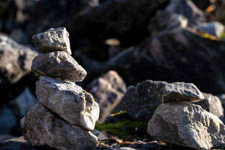Mountain rock texture closeup for your design. Natural wallpaper. Grunge texture.