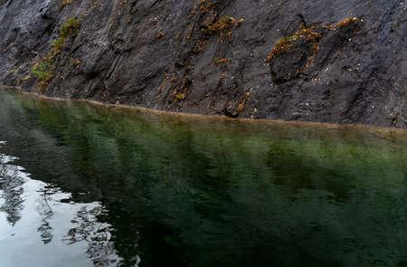 Beautiful mountain lake wild landscape. Mountain lake background. Great design for any purposes. Reklamní fotografie