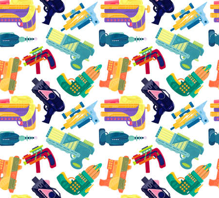 Pattern with bright blasters on a white background Vektorgrafik