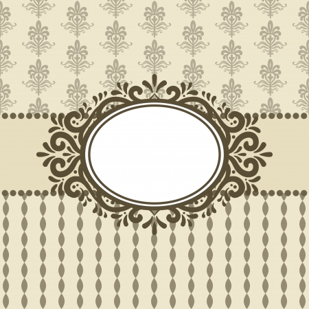 circles circle: Vintage Card  Great for invitations and greeting cards