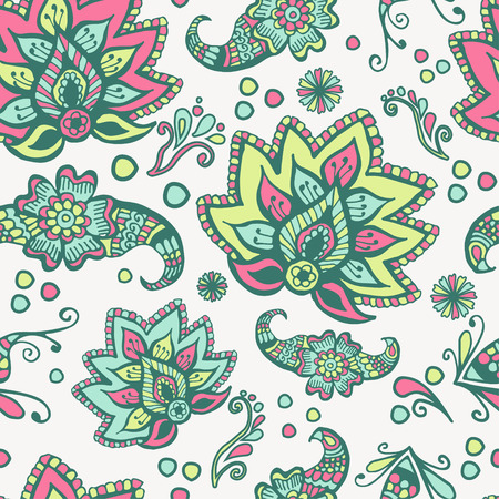 Seamless Floral Pattern On White Background Stock Vector - 23104036