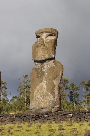 moai: Moai, Easter Island  Stock Photo