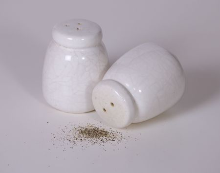 Salt and Pepper with Spilled Pepper