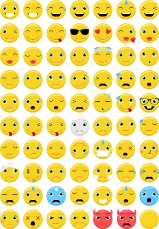 face to face: Emoji emoticons