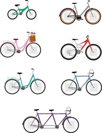 Bike Vector Set Ilustracja