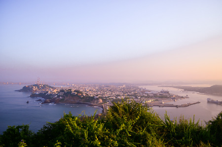 city ??Mazatlan sky sea malesa aerial view dawn port view Stok Fotoğraf - 92237763