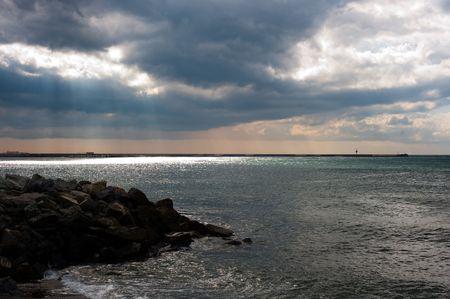 genoa: Genoa bay Stock Photo