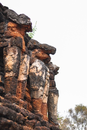 Ruin Brick elephant, Kampangphet Historical Park Stock Photo - 19858714