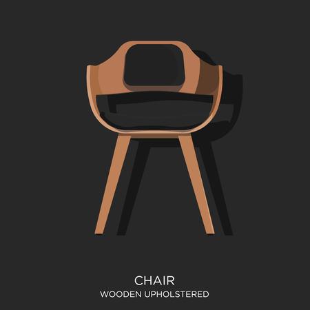 upholstered: Wooden Upholstered Chair