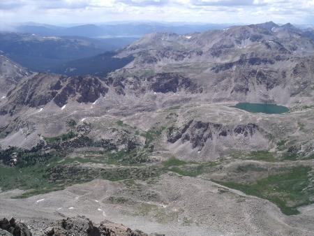 basin mountain: harvard columbia basin Stock Photo