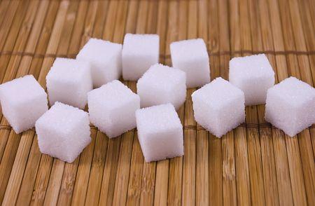 white sugar cubes on a mat Фото со стока - 5563259