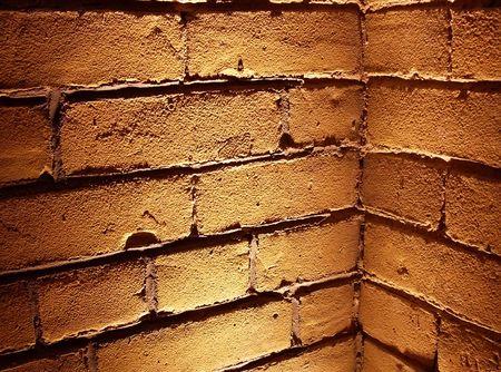 Corner of lighted brick wall Stock Photo - 5677776
