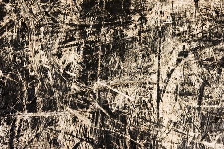 scratched: Old scratched black wood - grungy pattern  Stock Photo