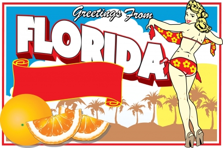 pin up vintage: Florida Postcard