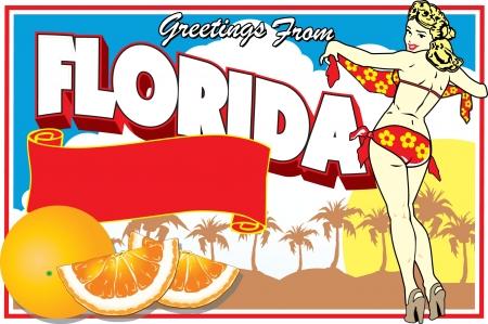 Florida Postcard Stock Vector - 20400790