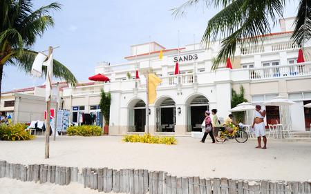 boracay: Boracay, PHILIPPINES - MARCH 1, 2015. View of luxury restaurants at Boracay beach, Philippines. Editorial