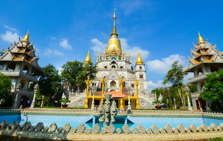 Buu Long pagoda at Ho Chi Minh City, Vietnam, near Suoi Tien Theme Park. Stock Photo - 38559669