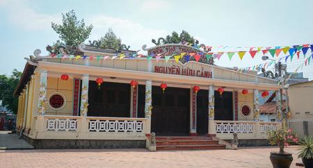 Bien Hoa, Vietnam - Apr 5, 2015. Temple of Nguyen Huu Canh, a hero in southern Vietnam. Editorial