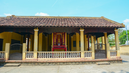 mekong: Local temple in Mekong Delta, southern Vietnam. Stock Photo