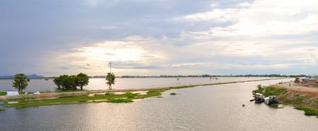Flooding field in Mekong Delta, An Giang, Vietnam. photo