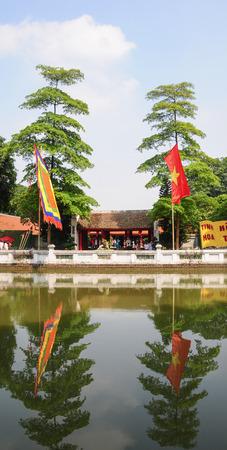 HANOI, VIETNAM - July 9, 2014: Khue Constellation Pavition at Temple of Literature (VAN MIEU - QUOC TU GIAM) in Hanoi, Vietnam. Editorial