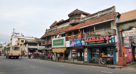 kandy: KANDY, SRI LANKA - MARCH 25, 2015. View of Kandy street, Sri Lanka. Kandy is famous because of its Tooth Relic Temple where Buddhas tooth is being kept. Editorial