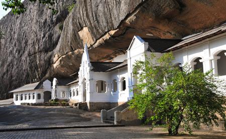 Dambulla 동굴 사원, 스리랑카에서 가장 크고 잘 보존 된 동굴 사원 단지. 스톡 콘텐츠