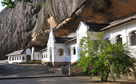 Dambulla cave temple, the largest and best-preserved cave temple complex in Sri Lanka. Фото со стока