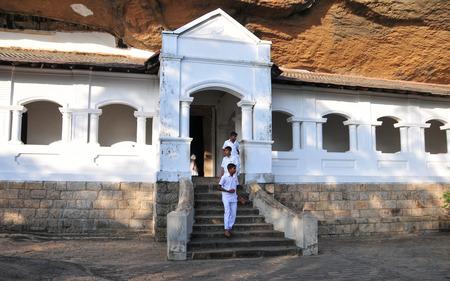 sigiriya: Group of school students visiting Sigiriya complex, UNESCO listed World Heritage Site.