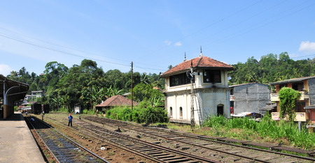 colombo: The scenic mountain rail track from Nuwarelia to Colombo in Sri Lanka.