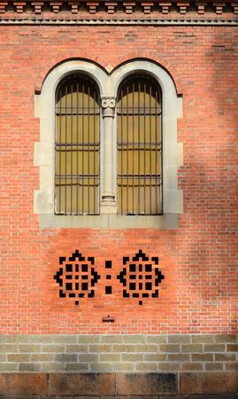domination: Arquitectura Detalle de la catedral de Notre Dame, en Ciudad Ho Chi Minh, Vietnam. Construido en la dominaci�n francesa (1880) y dise�ado por architecter J. Bourard. Editorial
