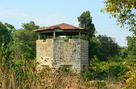 exactness: Blockhouse located on the hill in Dalat highland, southern Vietnam.