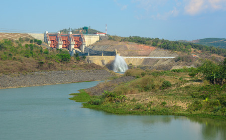 hydropower: Tri An hydropower plants at Dong Nai province, Vietnam. The dam was built in in 1984-1986.
