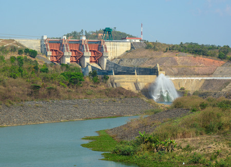 hydroelectricity: Tri An hydropower plants at Dong Nai province, Vietnam. The dam was built in in 1984-1986.