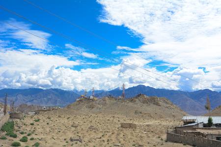 ladakh: Mountain range in Leh, Ladakh, northeast India.