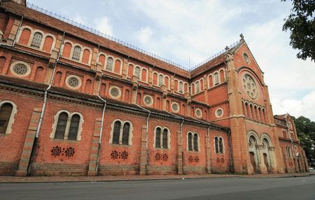 Notre Dame Cathedral (Nha Tho Duc Ba), build in 1883 in Saigon, Vietnam. The church is established by French colonists.