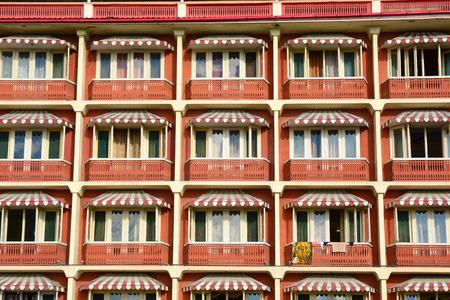 historical building: Facade of historical building in Srinagar, Jammu & Kashmir, India. Stock Photo