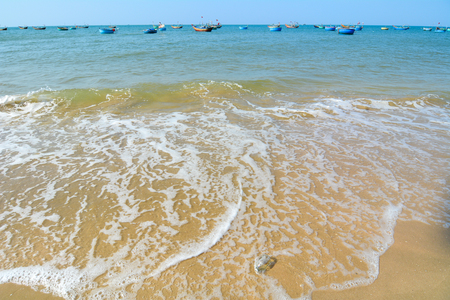 recognised: View of beautiful Nha Trang beach. Nha Trang is a delightful south coast city, is generally recognised as Vietnams premier beach destination. Editorial