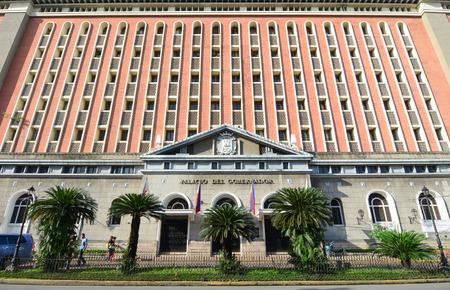 govt: MANILA, PHILIPPINES - MARCH 16, 2015. Palacio del Gobernador in Intramuros in Manila, Philippines. Intramuros is a one of the most popular tourist destination in Manila.