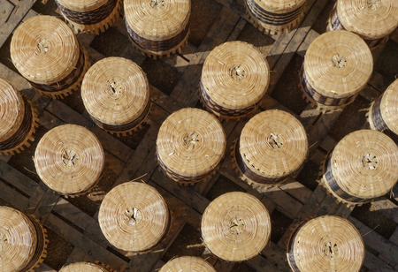 ethnology: Handicraft made of bamboo for sale in travel places in Myanmar.