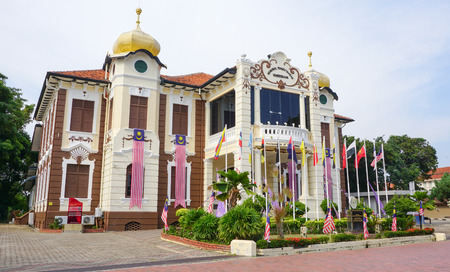 proclamation: MALACCA, MALAYSIA - AUG 15, 2015. Proclamation of Independence Memorial. Malacca City is the capital city of the Malaysian state of Malacca. It was listed as UNESCO World Heritage Site on 2008. Editorial