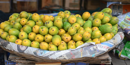 bodhgaya: Fresh mango at the market in Bodhgaya, India.