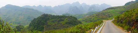 ha giang: Landscape of Ha Giang, the mountainous region in Vietnam. Ha Giang. As Ha Giang is a mountainous region, the population is not large, and the majority of inhabitants are ethnic Vietnamese.