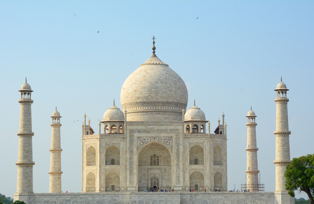 love dome: Taj Mahal in Agra, India. It is one of the world's most celebrated structures and a symbol of India's rich history.